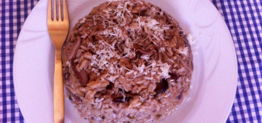 Ριζότο με αποξηραμένα μανιτάρια Σιτάκε